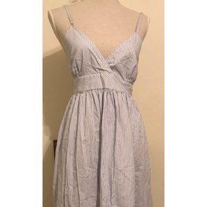 Gap Blue & White Seersucker Dress